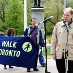 Dylan Reid of Walk Toronto addressed the importance of the pedestrian realm in a healthy city.