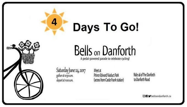 Getting closer. 4 days till bells hits the Danforth #bellsondanforth
