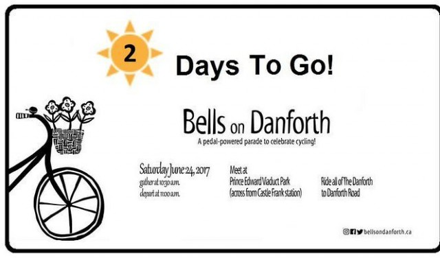 Pimp up those tires and try out your bells. We're 2 days away. Get ready for Saturday. #bellsondanforth #soclose #excited #torontobikes #toronto