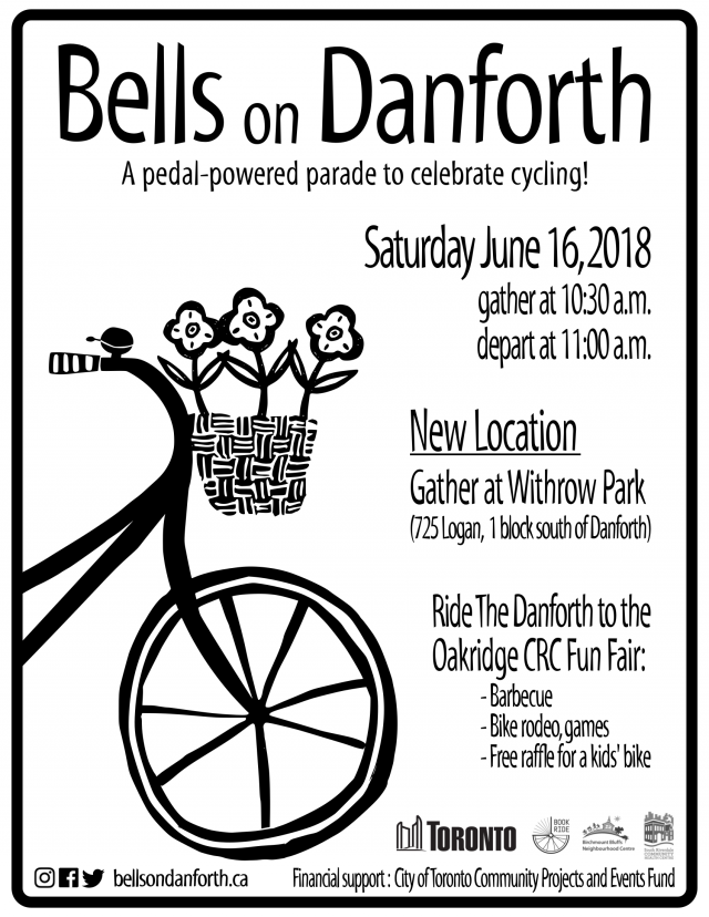 Bells on Danforth 2018 poster