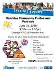 Flyer for the Oakridge CRC Fun Fair